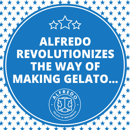 Alfredo revolutionizes the way of making gelato